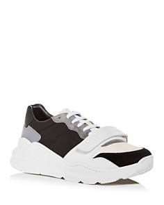 Burberry - Men's Regis Neoprene & Leather Low-Top Sneakers