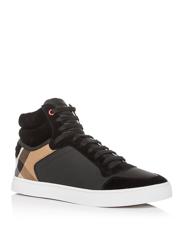 Burberry - Men's Reeth Leather High-Top Sneakers