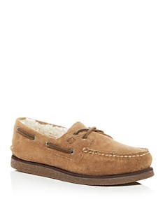 Sperry - Men's Authentic Original Two Eye Suede & Shearling Boat Shoes