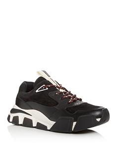 Salvatore Ferragamo - Men's Booster Suede & Leather Dad Sneakers