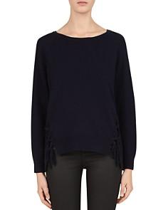 Gerard Darel - Coralie Lace-Up Hem Sweater