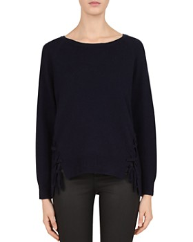 38bfafeb3 Gerard Darel - Coralie Lace-Up Hem Sweater ...