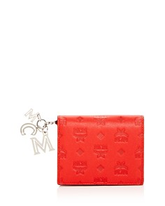 MCM - Klara Logo Monogram Leather Mini Continental Wallet