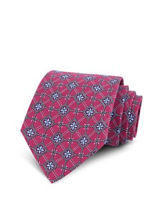 The Men's Store at Bloomingdale's - Floral Square Silk Classic Tie - 100% Exclusive