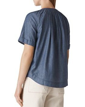 Whistles - Pauleth Chambray Top