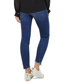 Ted Baker - Catrina Distressed-Hem Skinny Jeans in Mid Blue