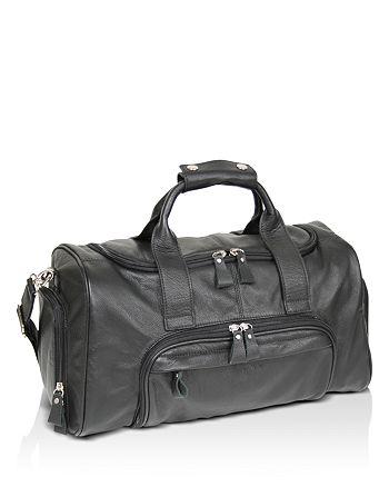 ROYCE New York - Lightweight Leather Travel Duffel Bag