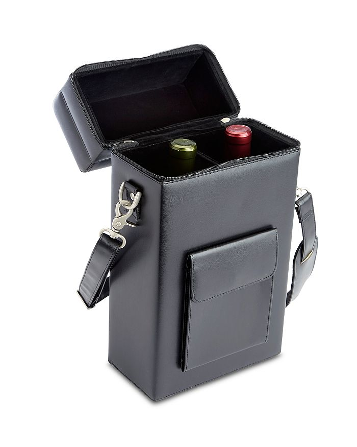 ROYCE New York - Leather Double Wine Carrying Case