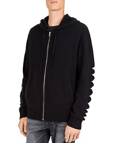 The Kooples - Freedom Wool & Cashmere Zip-Front Hoodie