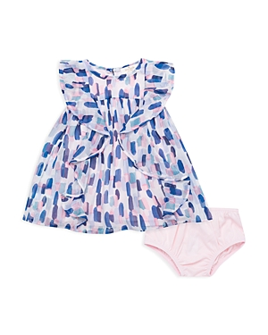 kate spade new york Girls Ruffled BrushstrokePrint Dress  Baby