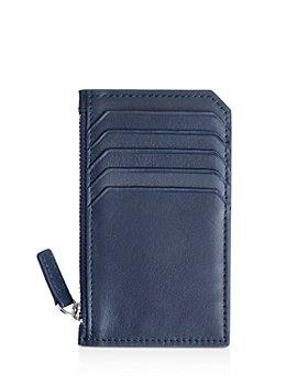 ROYCE New York - Leather Zipper Credit Card Case