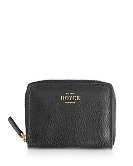 ROYCE New York - Leather Zip-Around Card Case