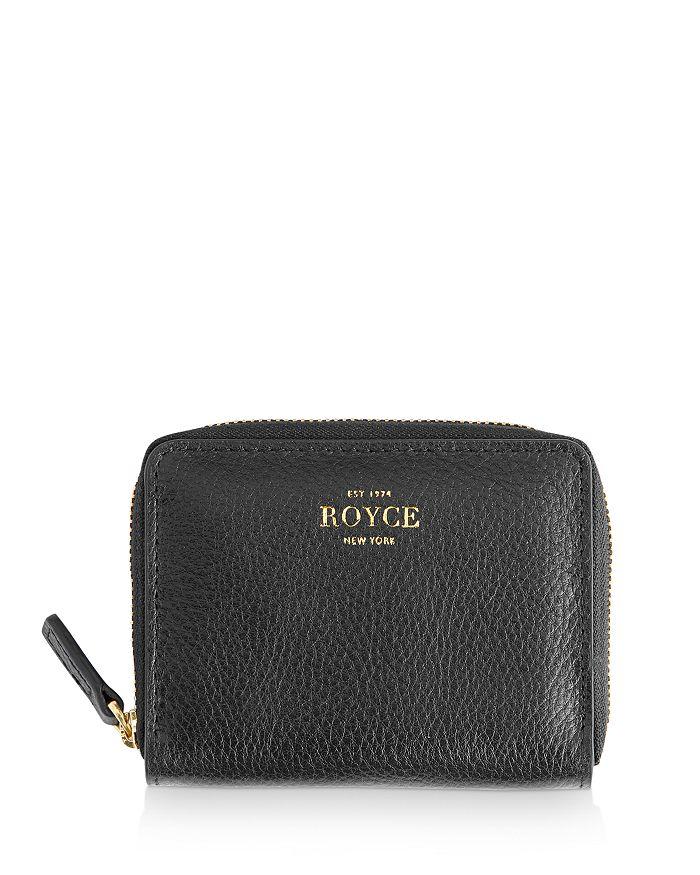 ROYCE New York - Leather Zip-Around Card Case