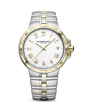 RAYMOND WEIL Parsifal Classic White Dial Watch, 41Mm in White/Silver