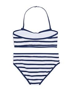 kate spade new york - Girls' Georgica Bow Striped 2-Piece Swimsuit - Big Kid
