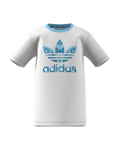 Adidas - Girls' Patterned-Logo Tee - Big Kid