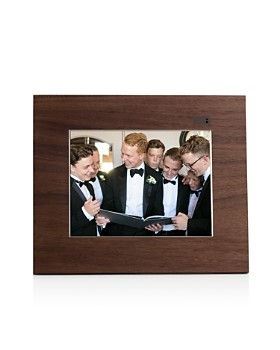 Aura - Walnut Wood Digital Picture Frame