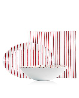 VIETRI - Stripe Red Serveware