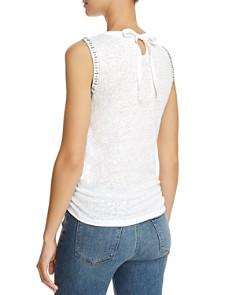 Generation Love - Phoebe Embellished Tie-Front Linen Top