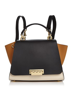 8d521fe1da ZAC Zac Posen - Eartha Iconic Color Block Convertible Leather Backpack ...