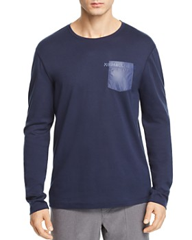 Michael Kors - Mixed-Media Contrast-Pocket Crewneck Tee