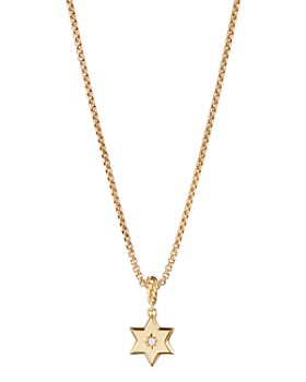 David Yurman - Star of David Pendant in 18K Yellow Gold with Diamonds