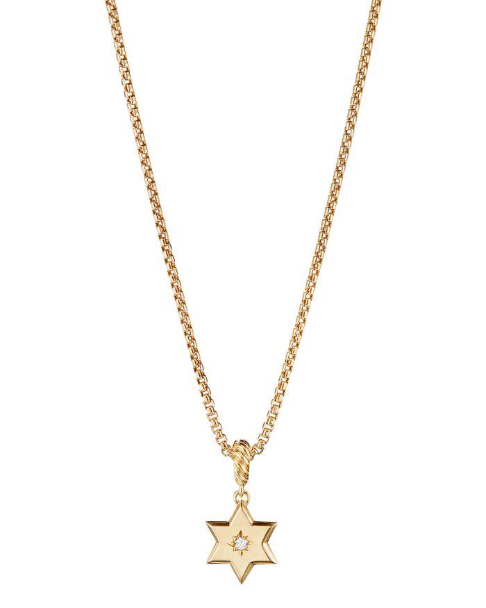 David Yurman Star of David Pendant in 18K Yellow Gold with Diamonds  | Bloomingdale's