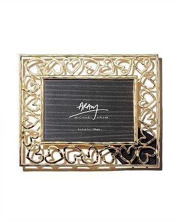 "Michael Aram - Gold Heart Frame, 5"" x 7"""
