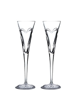 Waterford - Wishes Love & Romance Flute Pair