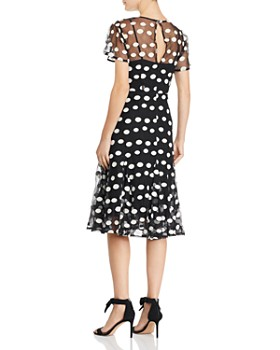 37c8a5f6b8 ... nanette Nanette Lepore - Short Sleeve Dot-Embroidered Mesh Dress