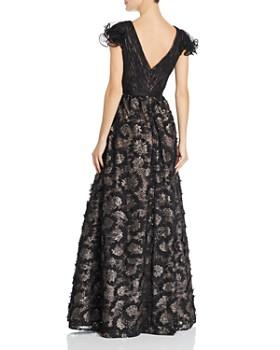 Aidan Mattox - Sequin Embroidered Ruffle Sleeve Gown