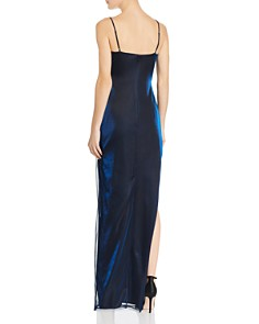 Laundry by Shelli Segal - Metallic Draped Gown - 100% Exclusive