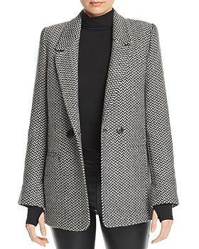 Anine Bing - Herringbone Double-Breasted Blazer