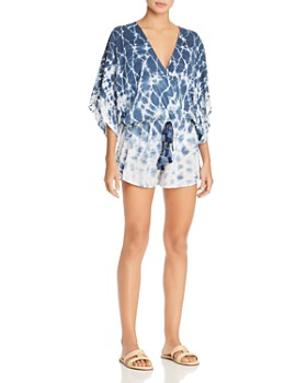 12f020b92df18 Surf Gypsy - Ombré Tie-Dye Romper Swim Cover-Up ...