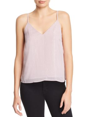 RE:NAMED Re: Named Metallic Striped Camisole Top - 100% Exclusive in Dusty Pink