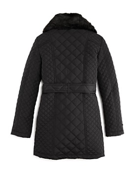 Bardot Junior - Girls' Quilted Coat with Faux-Fur Collar - Big Kid