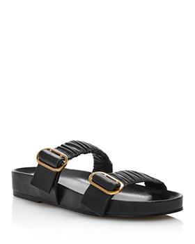 Stuart Weitzman - Women's Shalene Ruched Strap Slide Sandals