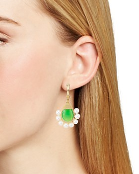 Beck Jewels - Green Lolita Cultured Freshwater Pearl Drop Earrings