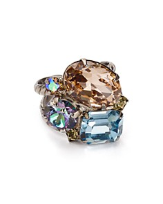 Sorrelli - Stone Cluster Adjustable Cocktail Ring