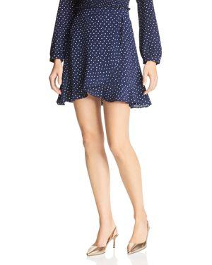 Aqua Polka Dot Faux-Wrap Skirt - 100% Exclusive