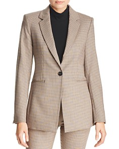 Theory - Power Checked Blazer