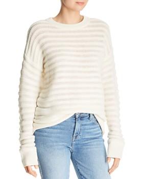 Theory - Cashmere Knit-Stripe Sweater