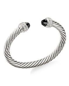 David Yurman - Cable Bracelet with Black Onyx & Diamonds