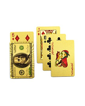 Luckies - Gold-Finish Money Playing Cards