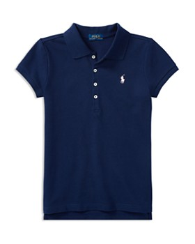 Ralph Lauren - Girls' Mesh Knit Polo - Big Kid