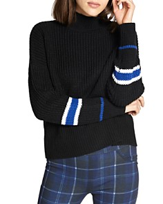Sweater With Leather Sleeves Bloomingdales
