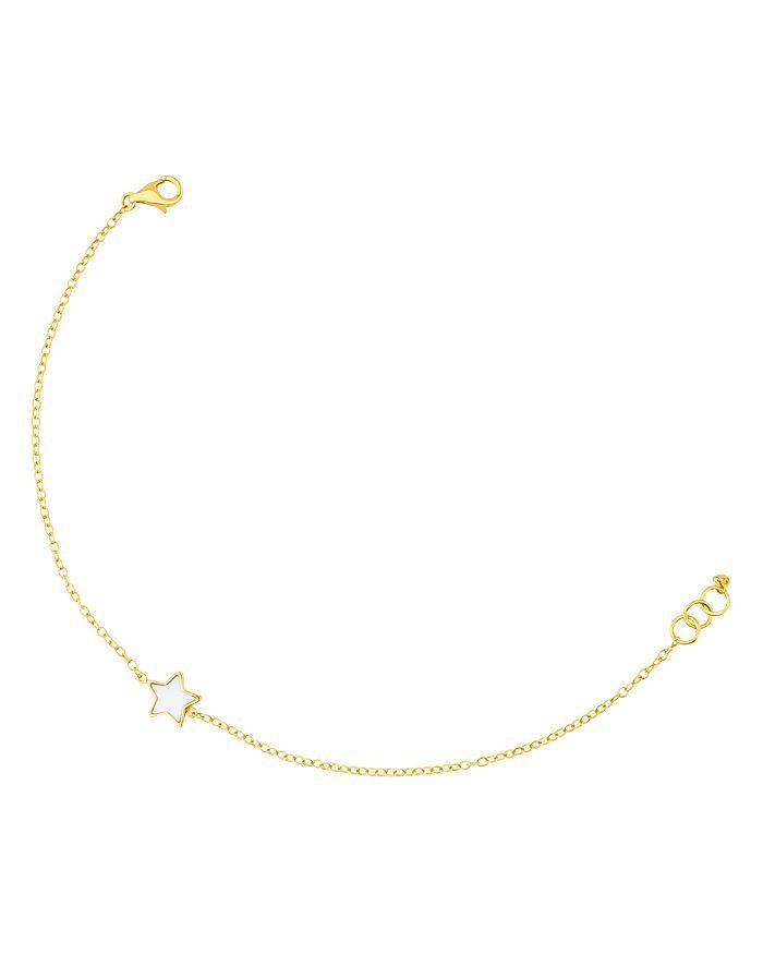 TOUS - 18K Yellow Gold XXS Mother-Of-Pearl Star Bracelet