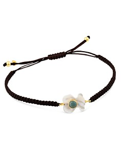 TOUS - 18K Yellow Gold Super Power Amazonite & Mother-Of-Pearl Bear Cord Bracelet