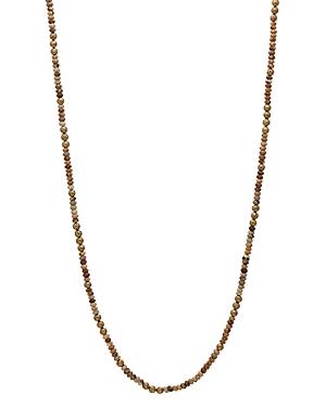 John Varvatos Collection Brass & Jasper Bead Necklace, 24