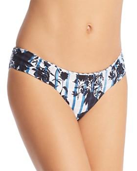 Lucky Brand - On the Grid Reversible Shirred Hipster Bikini Bottom